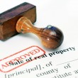 Stock Photo: Sale of real property form