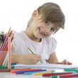 Child draws - Stock Photo