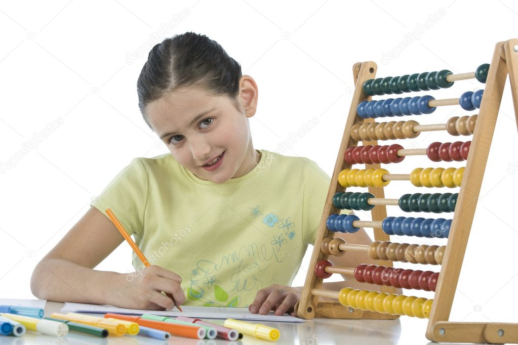 Child draws — Stock Photo #11159744