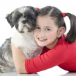 A girl and her dog - Stock Photo