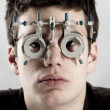 Optometrist exam - Foto Stock
