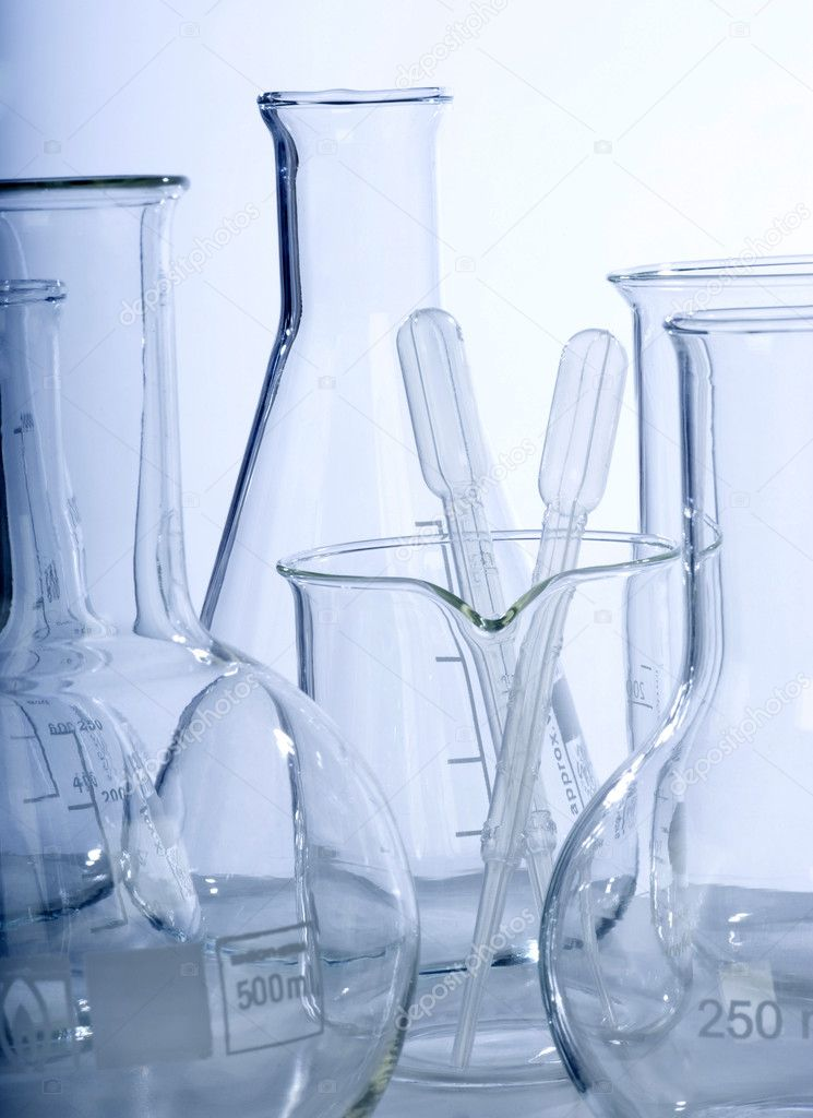 Glass laboratory equipment for science research — Stock Photo #11192109