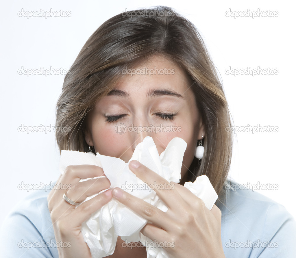 Women with allergies — Stock Photo #11207417