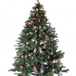 Royalty-Free Stock Photo: Decorated christmas tree isolated on white background