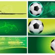 Set of football backgrounds — Stock Vector