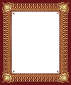 Luxury golden decorative frame — Stock Vector