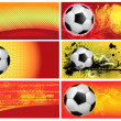 Set of football backgrounds — Stock Vector #10766352