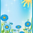 Summer field - Stock Vector