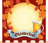 Banner Octoberfest — Stock Vector
