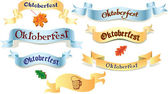 Set of ribbons Oktoberfest — Stock Vector