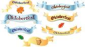 Set of ribbons Oktoberfest — Stock Vector
