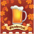 Stock Vector: Banner Octoberfest
