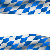 Oktoberfest background with Bavarian flag — Stock Vector