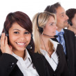 Royalty-Free Stock Photo: Confident business team with headsets