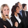 Confident business team with headsets — Stock Photo #10863798