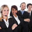 Confident business team with headsets — Photo