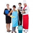 Diverse group of smiling workers — Stock Photo