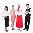 Stock Photo: Group of chef and waiters