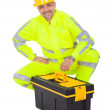 Royalty-Free Stock Photo: Portrait of worker wearing safety jacket