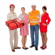 Diverse group of smiling workers - 