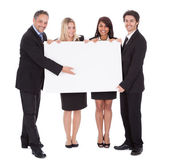 Group of happy business colleagues — Stock Photo