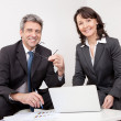 Two business at the meeting — Stock Photo