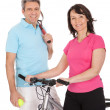 Royalty-Free Stock Photo: Mature active couple doing sports