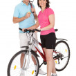 Mature active couple doing sports — Foto de Stock