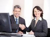Biznes w biurze na posiedzeniu — Zdjęcie stockowe