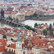 Charles bridge, Prague, Czech Republic,, — Stock Photo