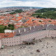 View of Prague Castle square - Stock Photo