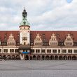 Rathaus (Town hall) in Leipzig — Foto Stock