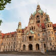 Neues Rathaus (New Town hall) in Hannover - Stock Photo