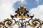 формы ворота замка, прага,,, — Стоковое фото
