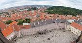 View of Prague Castle square — Stock Photo