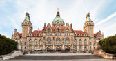 Neues Rathaus (New Town hall) in Hannover — Foto de Stock