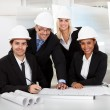 Group of architects at the meeting — Stock Photo #11453403