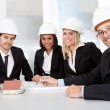 Group of architects at the meeting — Stock Photo