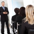Stock Photo: Group of business at lecture