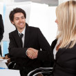 Businesspeople shaking hands in the meeting — Stock Photo