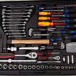 Suitcase full of various tools — Stock Photo
