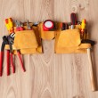 Toolbelt with various tools — Stock Photo