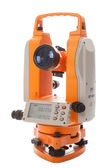 Survey equipment theodolite — Stock Photo