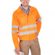 Portrait of worker wearing safety jacket — Stock Photo