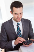 Accountant working at the office — Stock Photo
