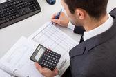 Revisor som arbetar på kontoret — Stockfoto