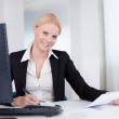 Successful young businesswoman working — Stock Photo #12409023