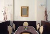 Restaurant table and chairs — Stock Photo