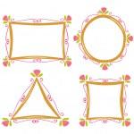 Cute frame doodle — Stock Vector