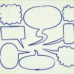 Bubble speech doodle — Stock Vector